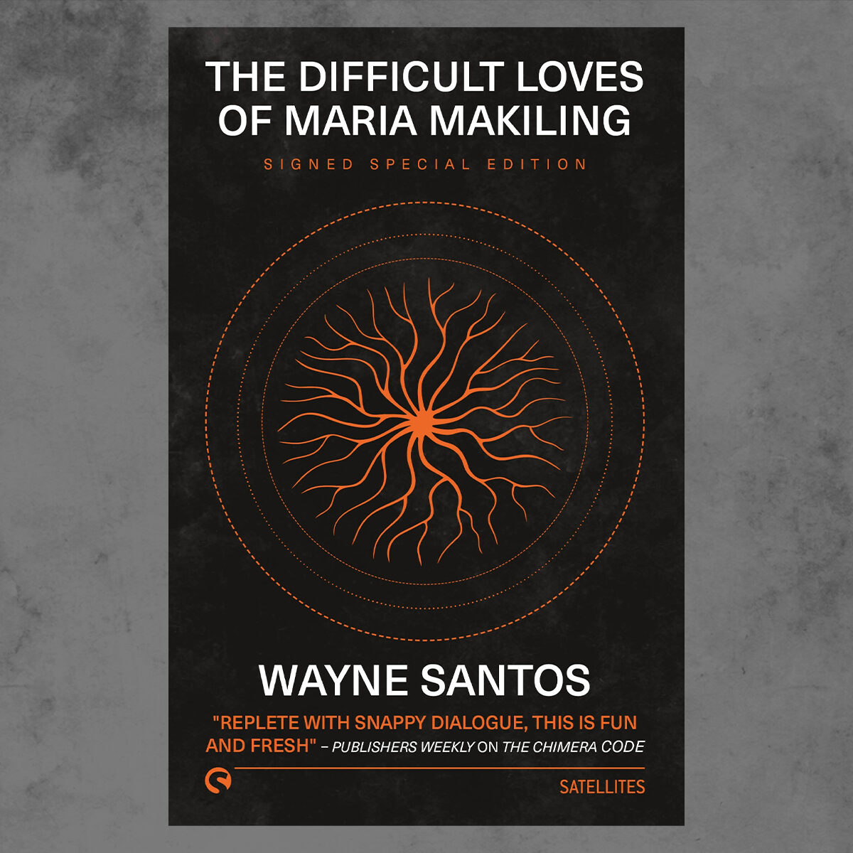 Image featuring paperback copy of The Difficult Loves of Maria Makiling by Wayne Santos on an atmospheric background.