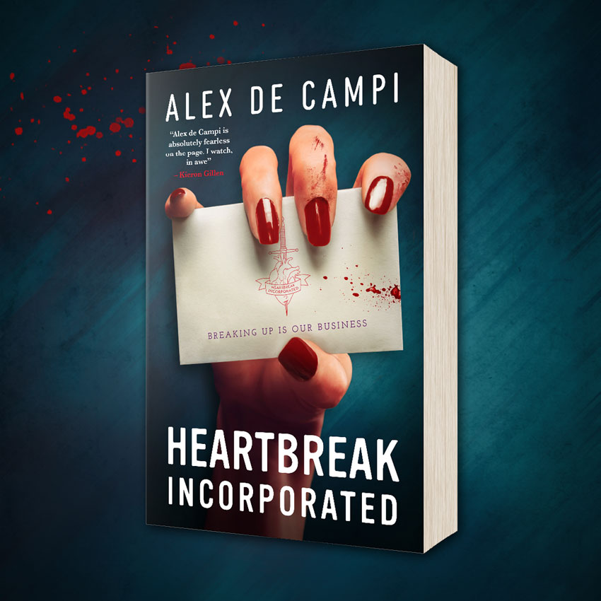 OUT NOW: Heartbreak Incorporated by Alex de Campi!